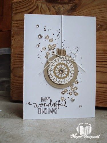 . Great use of this stamp set Magical Scrapworld: stampin' Up! Hello Darling, Christmas card