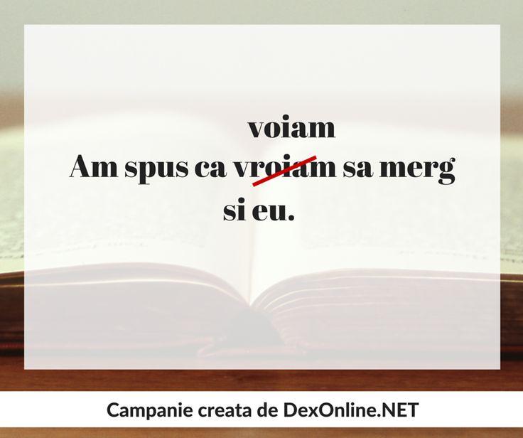 Dexonline promoveaza limba romana vorbita corect #salveazalimbaromana #gramatica http://dexonline.net/definitie-vrea