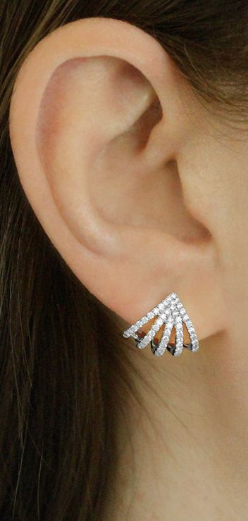 These five prong diamond huggies are the perfect way to amp up your look! #earrings #danarebecca