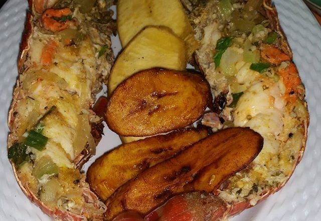 lobster-plantains | Recipes to Cook | Pinterest