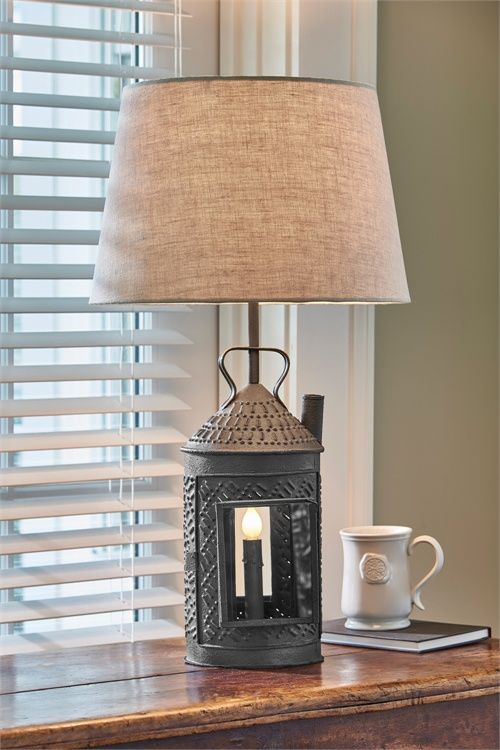 Greenhow lantern lamp with lampshade 26 5 x 9 x 6 5