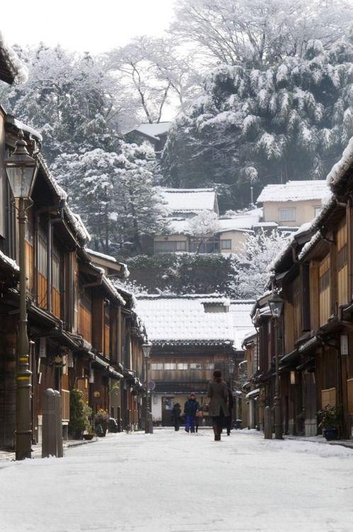 Higashi Chaya Area in winter: Kanazawa Tourist Information Guide
