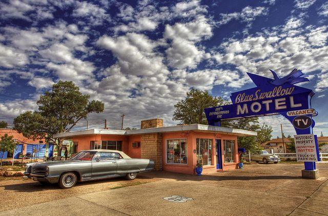 Blue Swallow Motel by Digital Agent, via Flickr