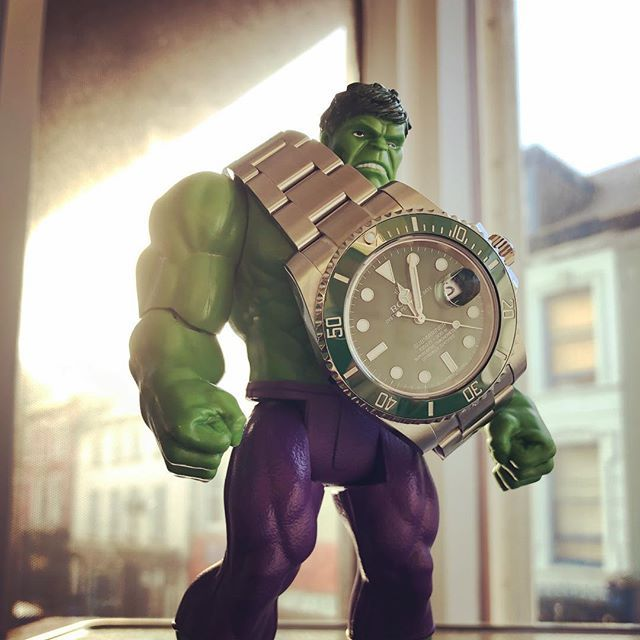 There's a Hulk in the building !! #hulk#rolex #gmt #submariner #rolexgmt #datejust #rolexsubmariner #dailywatch #watchesofinstagram #watchporn #watchfam #menstyle #mensstyle #menswear #mensfashion #fashiongram #hypebeast #streetwear #streetstyle #luxurywatch #rolexero #rolexwatch #rolexwrist #marvel #actionhero #woibook #dapperwristcheck #thewatchobsession