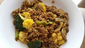 Hungry Hubby And Family: COHEN DIET: Curry Mince and Vegetables