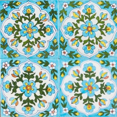 Lily Pond glazed tile
