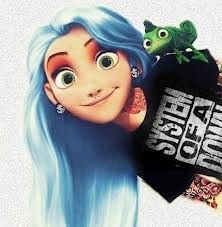Alethea loves tangled....and if she ends up emo in high school, maybe she'd go for this look!