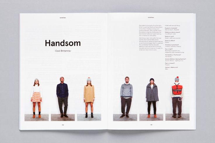 Sometimes Magazine. Inspiration: photograph a range of school uniform looks for high school mini-book or concept piece