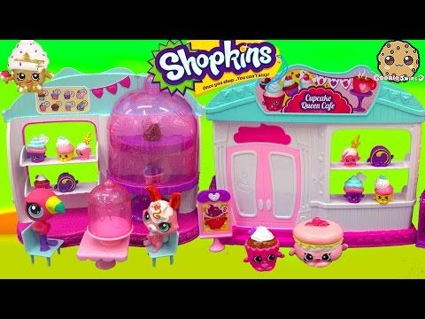 Shopkins Season 4 Cupcake Queen Cafe Cake Bakery Playset with 2 Exclusives Unboxing Video - YouTube