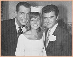 Oldest 'son' on My Three Sons, Tim Considine, who played Mike marries (on TV) Meredith MacRae with proud papa, Fred MacMurry looking on. Mike and Sally are married as Tim Considine makes his last appearance on the show. Mike thanks Steve for everything before he and Sally head off to his new job out of state. Would be the last we would see of oldest son Mike on the series.