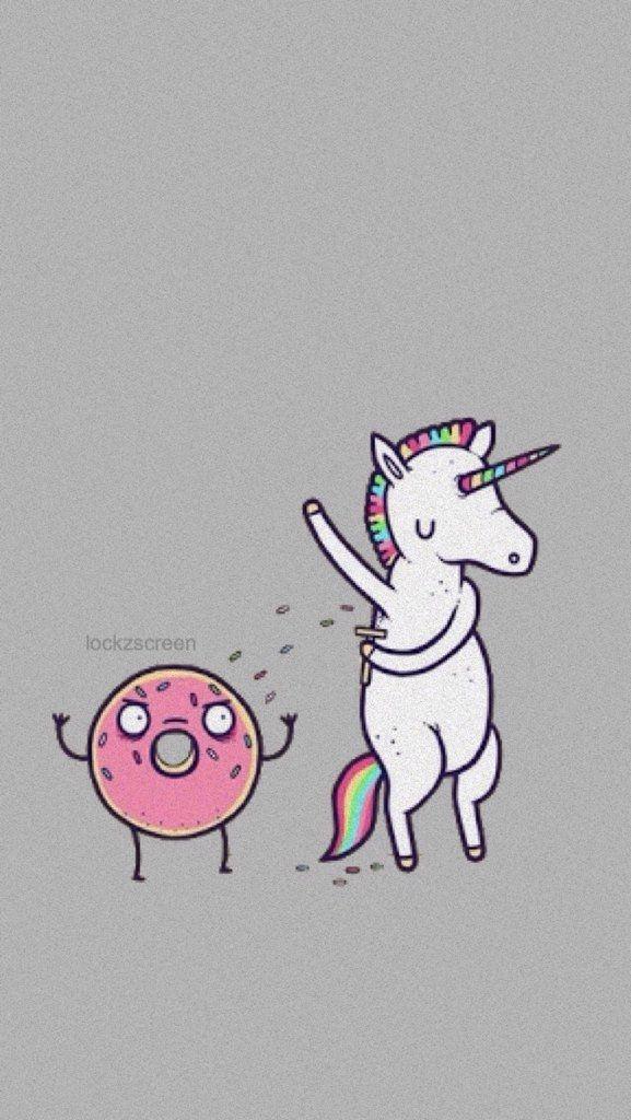 ✨ Wallpaper Unicorn & Donut