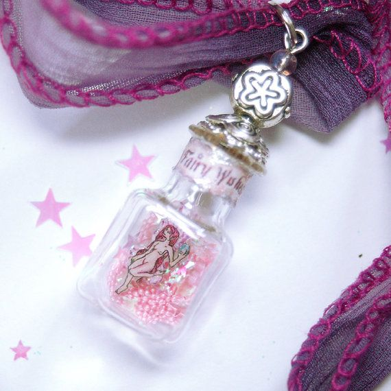 17 best captured fairy bottle pendants images on pinterest fairy bottle pendant miniature fairy figurine by chicorydellarts aloadofball Image collections