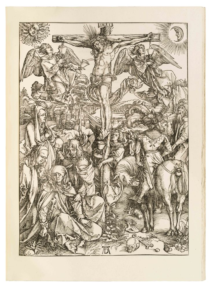 Dürer's Large Passion. First edition in book form with Latin text. Complete series of 12 full-page woodcuts, with Latin text on versos. – One of Dürer's 'Three Large Books.'