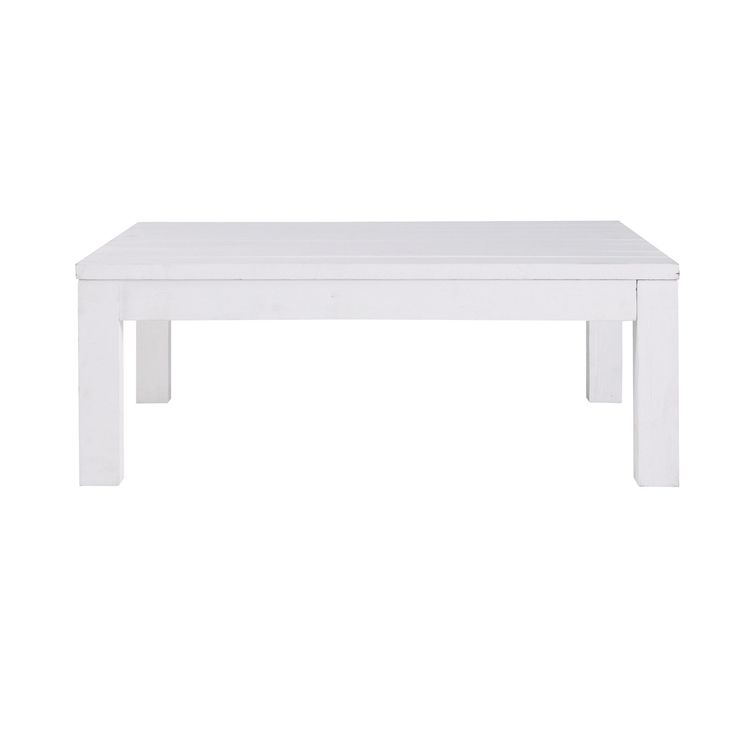 Table basse carrée blanche White