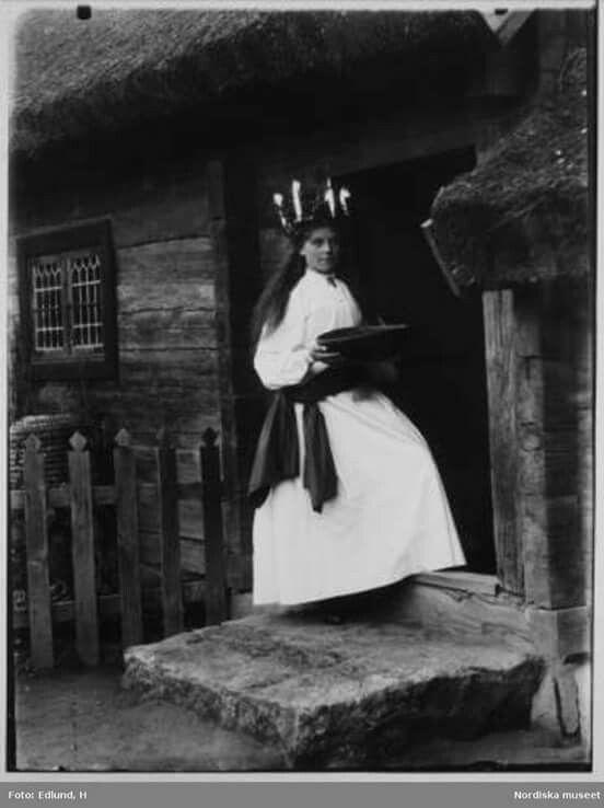 Lucia på Skansen 1899.