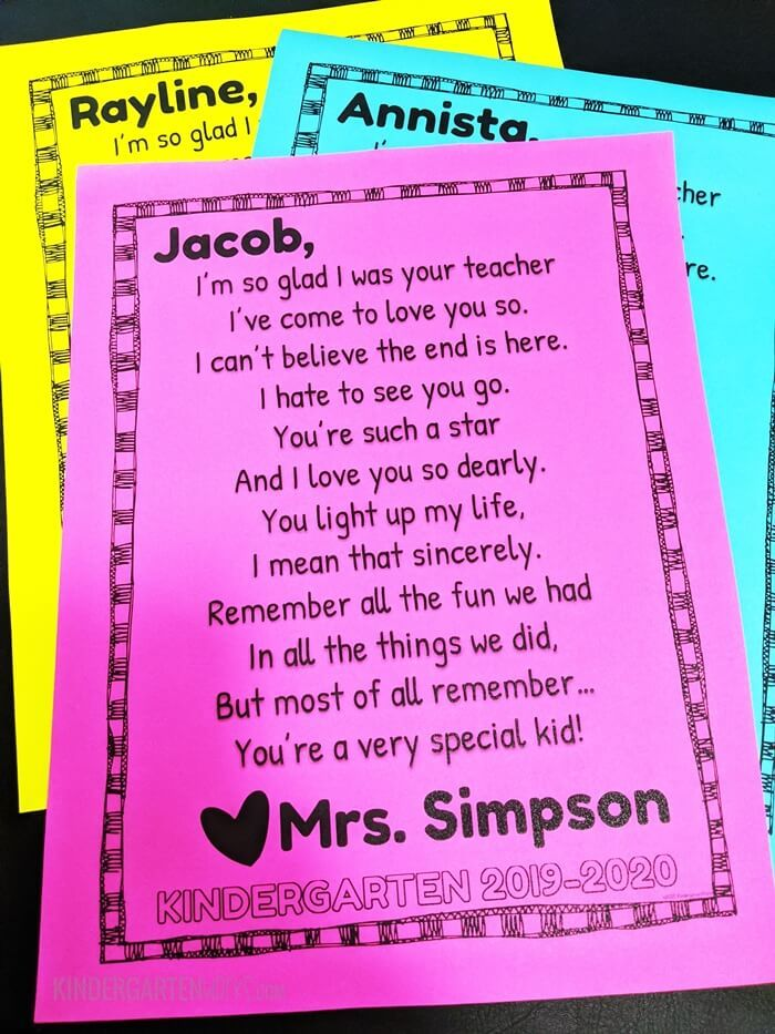 Goodbye Letter For The End Of The Year Student Teacher Gifts Letter To Students Letter To Teacher