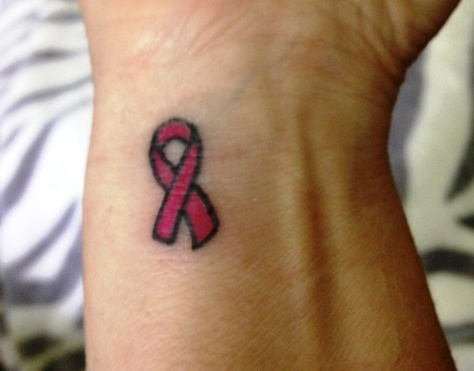 Breast Cancer Tattoo. I want this on my foot. Memorial tattoo