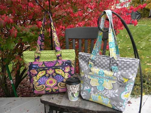This stylish bag is perfect to make using your favorite coordinating fabrics.
