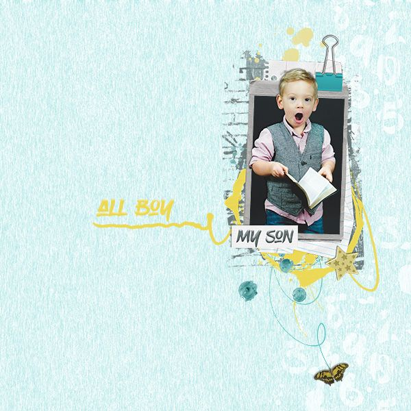 """Made with my new kit """"Cool Dude""""at digiscrap.nl"""