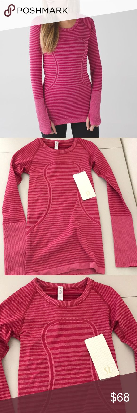 NWT HBRL LULULEMON SWIFTLY LS CREW LUCY STRIPE - 2 Brand: Lululemon Athletica Swiftly long sleeve crew Lucy stripe pink          Condition: New with tag || Size 2  || HBRL pink   📌NO  TRADES  🛑NO LOWBALL OFFERS  ⛔️NO RUDE COMMENTS  🚷NO MODELING  ☀️Please don't discuss prices in the comment box. Make a reasonable offer and I'll either counter, accept or decline.   I will try to respond to all inquiries in a timely manner. Please check out the rest of my closet, I have various brands. Some…