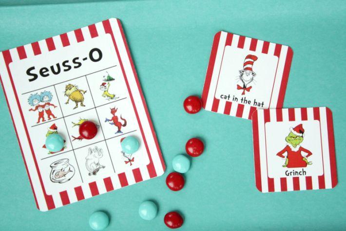 Free Dr. Seuss printable Seuss-O Game