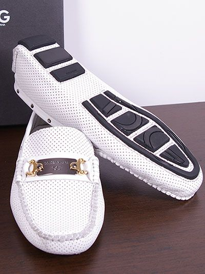 Dolce Gabbana Men WHITE  Shoes Sale | MEN / Dolce & Gabbana / Shoes / Dolce & Gabbana Leather Loafers for ...