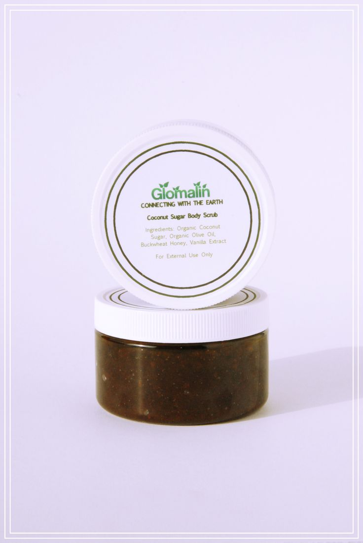 Glomalin Coconut Sugar Vanilla Scrub made from certified organic ingredients, shop at www.glomalin.ca