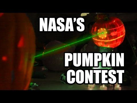 NASA Pumpkin Carving Contest- 2014 w/ LASERS!!! - YouTube