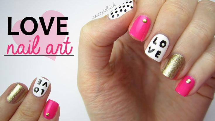 Diseños de nailart romántico de inspiración y muy fácil de crear, para llevar tus uñas con este estilo para este día del amor y la amistad.