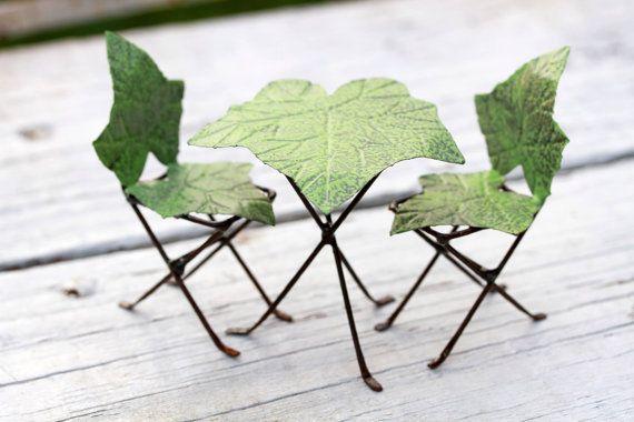 Fairy Garden Leaf Furniture