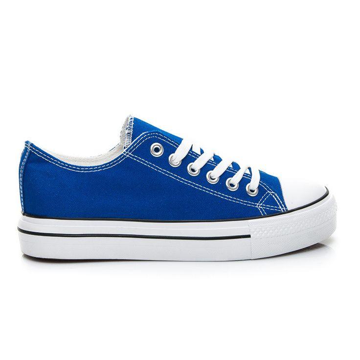 MODNE TRAMPKI OLDSCHOOL - odcienie niebieskiego > CzasNaButy.pl > buty i torebki