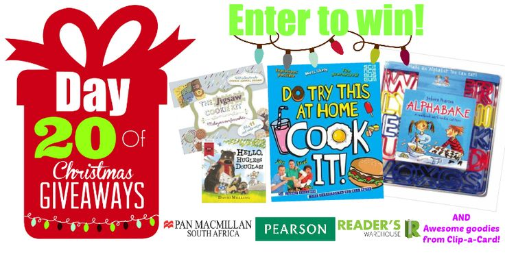 Day 20 Hamper sponsored by Pan Macmillan, Pearson & Clip-a-Card is perfect for the aspiring little Chef. Filled with everything they need to create delicious things in the kitchen. Enter here:  https://gleam.io/TPG7Q/day-20-of-christmas-giveaways