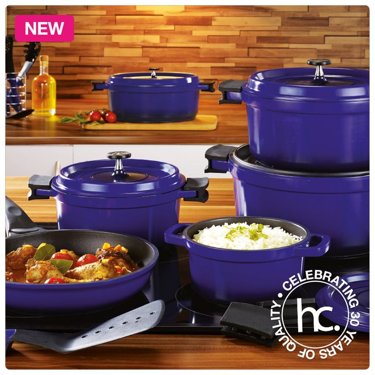 Saveur aluminium cookware now also available in blue from only R99 p/m