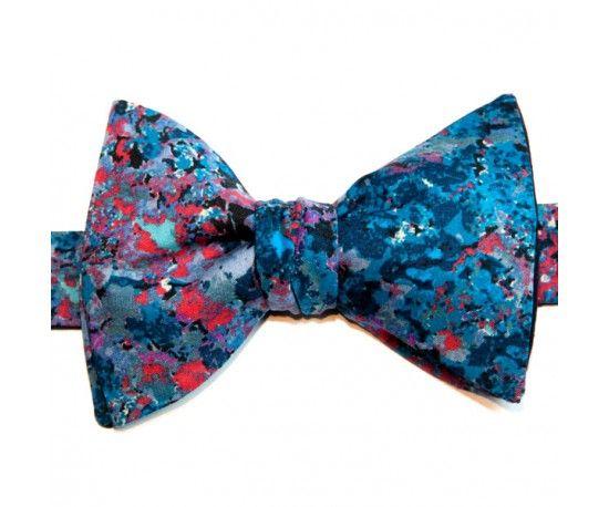 Nœud Papillon Bleu Liberty Renoir