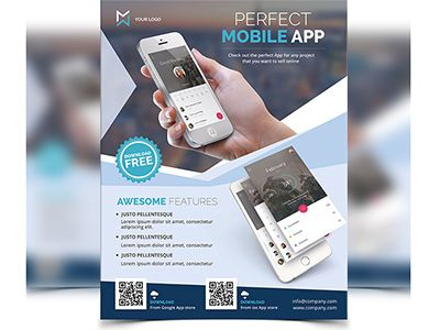 Mobile App Flyer Mobile app, Android app design