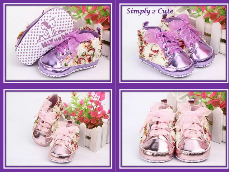 Coming soon! Floral flower sneakers. Chiffon lace, antislip sole. Suit 3-18 months