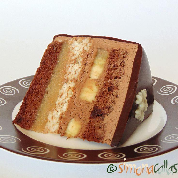 Tort Entremet cu banane si ciocolata 3
