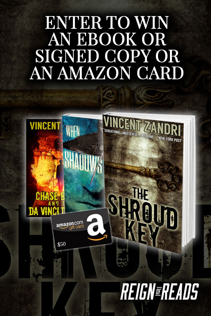 Win a $50 Amazon Gift Card, Signed Copies, or eBooks from NY Times, USA Today Bestselling Author Vincent Zandri