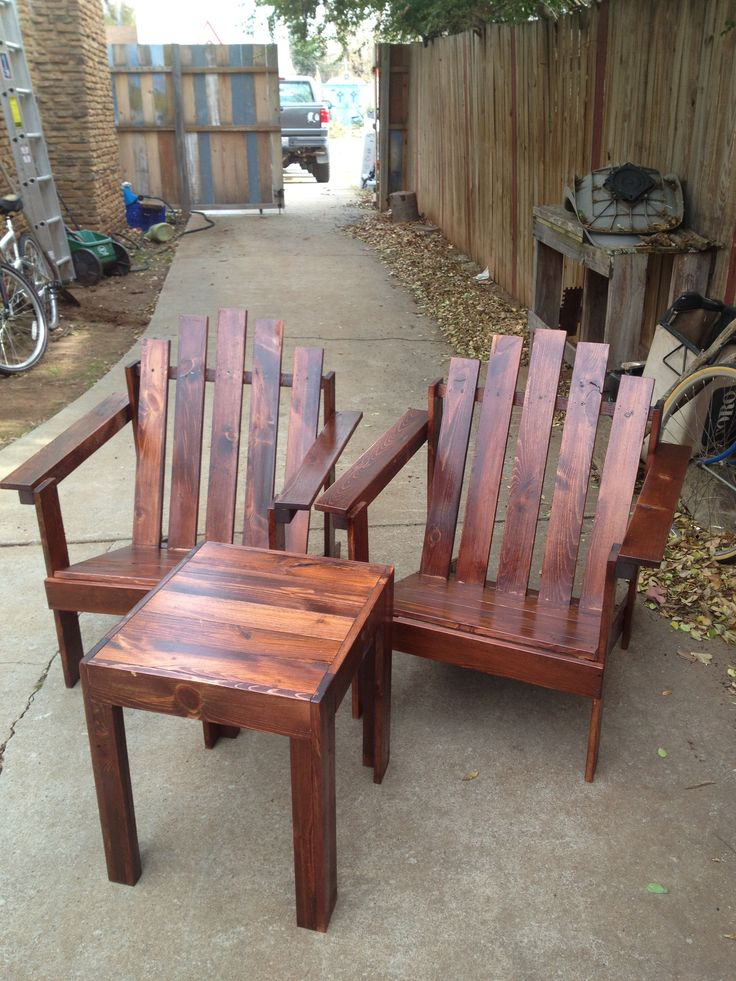 Mahogany adirondack chair and table set from reclaimed lumber G Gallery OKC - The 46 Best Images About G Gallery OKC Reclaimed And Repurpose