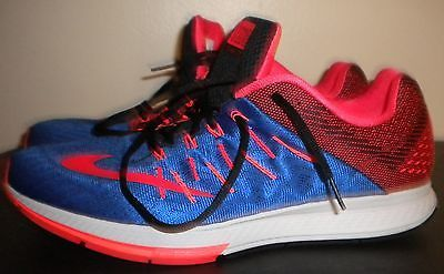 NIKE ZOOM ELITE 8.0 NEUTRAL RIDE Royal Blue Crimson Red Running Men Size 13.0