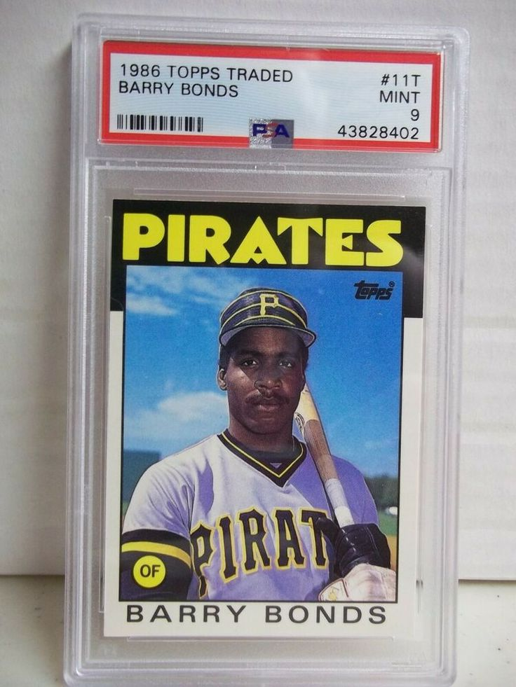 1986 topps traded barry bonds rookie psa mint 9 baseball