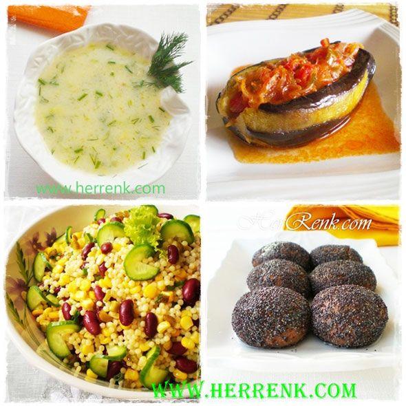 Vejetaryen İftar Menüsü-sütlü kabak çorbası,Meksika fasulyesi salatası,imam bayıldı,deniz kestanesi tatlısı tarifi,