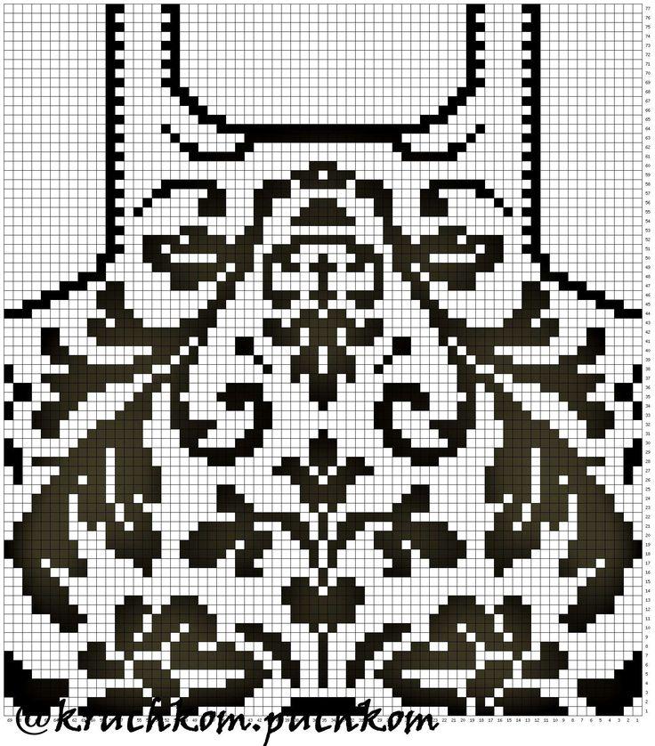 """Топ """"Лилия"""" выполнен крючком в технике филейного вязания  #вязание #вязаниекрючком #филейное #филейноевязание #топ #топкрючком #филейнаятехника #tejido #crochet"""