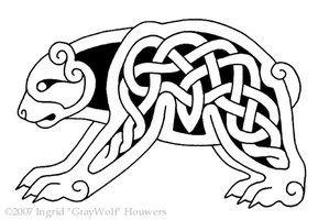 Celtic knot bear. http://th02.deviantart.net/fs13/200H/f/2007/011/1/6/Celtic_bear_by_Illahie.jpg