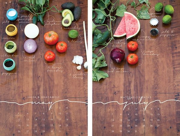 Beautiful! A recipe calendar.