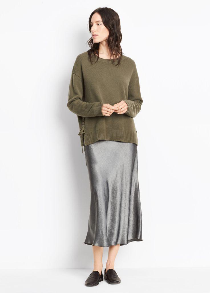 Satin Slip Skirt for Women | Vince