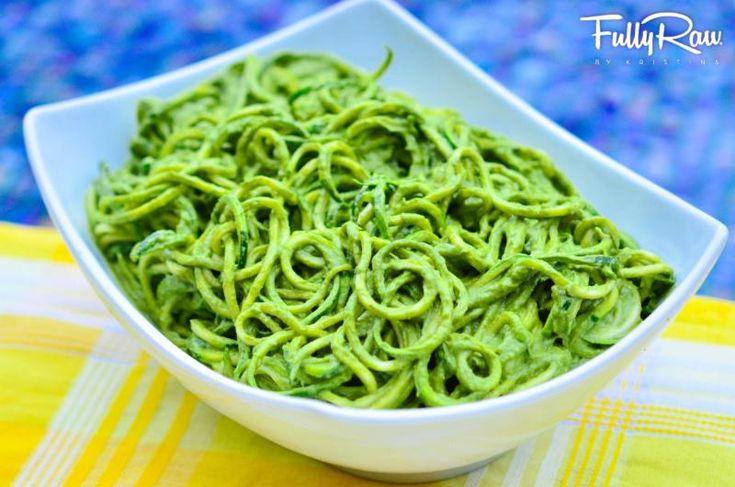 Pesto presto (raw špagety s avokádovo – bazalkovým pestem) | LAHODNÝ BLOG