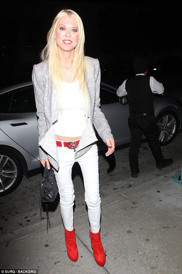 Stepping out: Tara Reid enjoyed a time out before she starts shooting once again as she stepped out on Monday night for a dinner date at West Hollywood hotspot Catch LA
