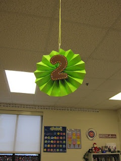 Simple and cute classroom table numbers.