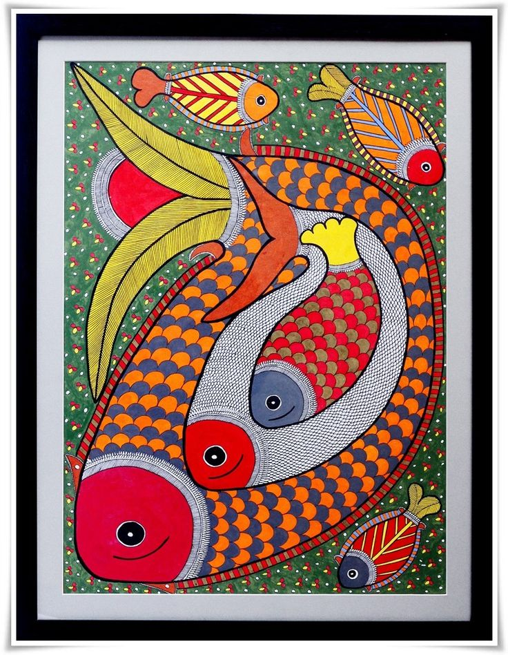 madhubani paintings blue green - Google Search
